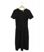 ISSA LONDON(イッサロンドン)の古着「半袖ブラウスワンピース」 ブラック