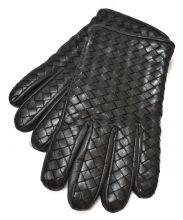 BOTTEGA VENETA(ボッテガベネタ)の古着「カシミヤライナーレザーグローブ」|ブラック