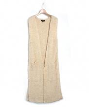 Drawer(ドゥロワー)の古着「フリンジロングジレ」|アイボリー