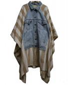 YARNZ(ヤーンツ)の古着「デニムリメイクポンチョ」 インディゴ