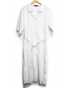 MACPHEE(マカフィー)の古着「シャツワンピース」|ホワイト