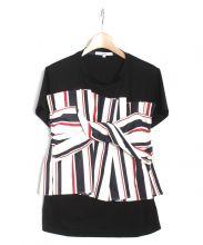 UN3D.(アンスリード)の古着「ビスチェドッキングTシャツ」 ブラック