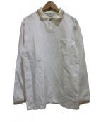 bunt(バント)の古着「リブポロシャツ」|オフホワイト
