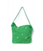 mina perhonen(ミナ ペルホネン)の古着「2WAYバッグ」|グリーン
