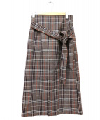 BALLSEY(ボールジィ)の古着「チェックベルテッドスカート」