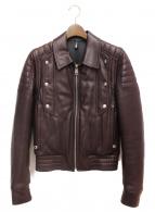 DIOR HOMME(ディオールオム)の古着「ジープスキンバイカーレザージャケット」|ブラウン