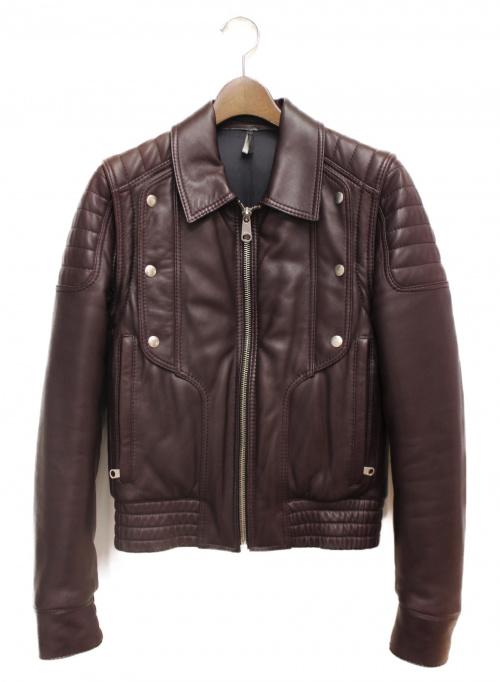DIOR HOMME(ディオール オム)DIOR HOMME (ディオールオム) ジープスキンバイカーレザージャケット サイズ:Mの古着・服飾アイテム