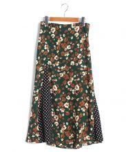 IENA(イエナ)の古着「レトロプリントランダムパネルスカート」|グリーン