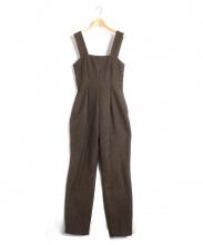 CLANE(クラネ)の古着「ツイードオールインワン」|ブラウン