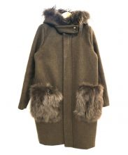 PalinkA(パリンカ)の古着「ファー付フーデッドコート」 オリーブ