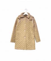 Traditional Weatherwear(トラディショナルウェザーウェア)の古着「キルティングフーデッドコート」 ベージュ