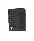 JAM HOME MADE(ジャムホームメイド)の古着「2つ折り財布」|ブラック