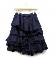 COMME des GARCONS(コムデギャルソン)の古着「ティアードデザインスカート」|ネイビー