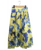 FRAY ID(フレイアイディー)の古着「ジャガードオパーススカート」|イエロー