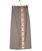 OPENING CEREMONY(オープニングセレモニー)の古着「スカート」|ブラウン×パープル
