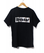 F.C.R.B.(エフシーレアルブリストル)の古着「SILVER BRISTOL LOGO TEE」|ブラック
