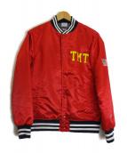 TMT×champion(ティーエムティー×チャンピオン)の古着「コラボスタジャン」|レッド