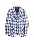 HEVO(イーヴォ)の古着「ウールジャケット」|ブルー×グレー