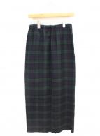 COMME des GARCONS(コムデギャルソン)の古着「チェック柄ロングスカート」