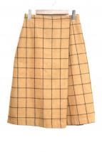Midi-Umi(ミディウミ)の古着「チェックスカート」 キャメル