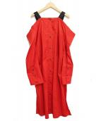 AKIRA NAKA(アキラナカ)の古着「シャツワンピース」|レッド