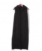 DEVOA(デヴォア)の古着「ニットベスト」|ブラック
