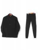 DEVOA(デヴォア)の古着「スタンドカラーセットアップ」|ブラック