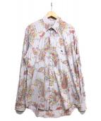 ETRO(エトロ)の古着「ペイズリー柄ボタンダウンシャツ」|パープル×ホワイト