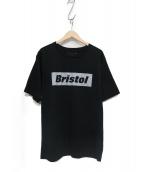 F.C.R.B.(エフシーレアルブリストル)の古着「REFLECTIVE BOX TEE/プリントTシャツ」|ブラック