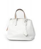 MARY AL TERNA(メアリ オル ターナ)の古着「レザーハンドバッグ」|ホワイト