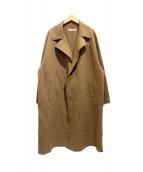.efiLevol(エフィレボル)の古着「Knitted Melton Coat」|ベージュ