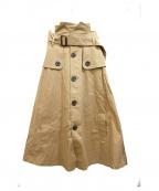 Little suzie(リトルスージー)の古着「トレンチスカート」 ベージュ