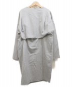 ENFOLD(エンフォルド)の古着「ウールワンピース」|グレー