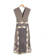 THEATRE PRODUCTS(シアタープロダクツ)の古着「ローズレースサロペットスカート」|グレージュ