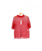 mame kuroguchi(マメ クロゴウチ)の古着「半袖ニット」|レッド