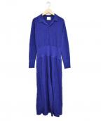 JUN MIKAMI(ジュン ミカミ)の古着「ニットラメワンピース」 ブルー