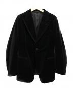 JUN MIKAMI(ジュン ミカミ)の古着「ベロアジャケット」 ブラック