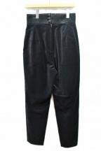 JUN MIKAMI(ジュン ミカミ)の古着「ベルベットパンツ」 ブラック