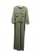 TOMORROWLAND(トゥモローランド)の古着「ドレープキュプラジャンプスーツ」|オリーブ