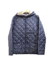 LAVENHAM(ラベンハム)の古着「キルティングフードジャケット」|ネイビー