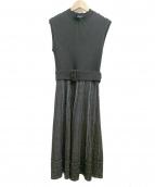 JUSGLITTY(ジャスグリッティー)の古着「フレンチスリーブニットワンピース」|ブラック