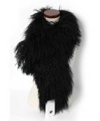 CHARLOTTE SIMONE(シャーロット シモーヌ)の古着「ファーストール」 ブラック
