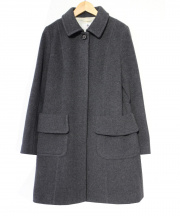 OLD ENGLAND(オールドイングランド)の古着「カシミヤブレンド比翼ウールコート」|グレー