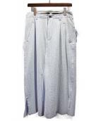 sulvam(サルバム)の古着「レイヤードスカートパンツ」|スカイブルー