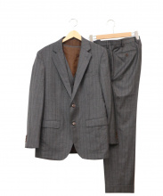 ESTNATION(エストネーション)の古着「ストライプ3ピーススーツ」|グレー