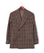 PAIDEIA(パイデア)の古着「チェックダブルスーツ」|グレー