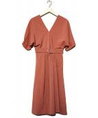 AMAIL(アマイル)の古着「エレガンスカラードレスワンピース」|ピンク