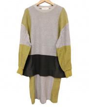 TOGA PULLA(トーガプルラ)の古着「ドッキングワンピース」|グレー