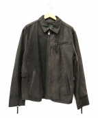Eddie Bauer(エディー・バウアー)の古着「カウレザーシングルジャケット」|ブラック