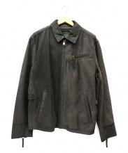 Eddie Bauer(エディー・バウアー)の古着「カウレザーシングルジャケット」
